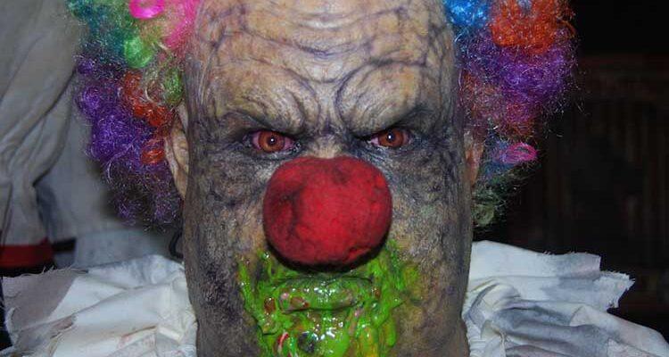 gross clown monster prop