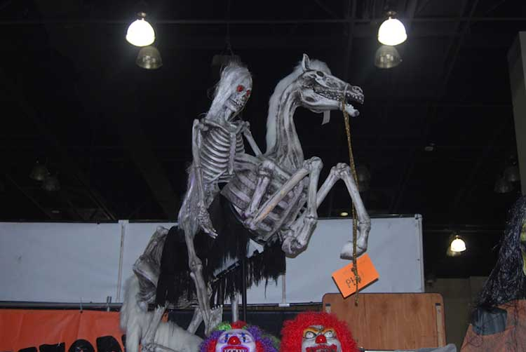 skeleton rider on skeleton horse