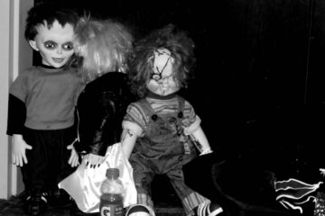 Scary characters taking a break