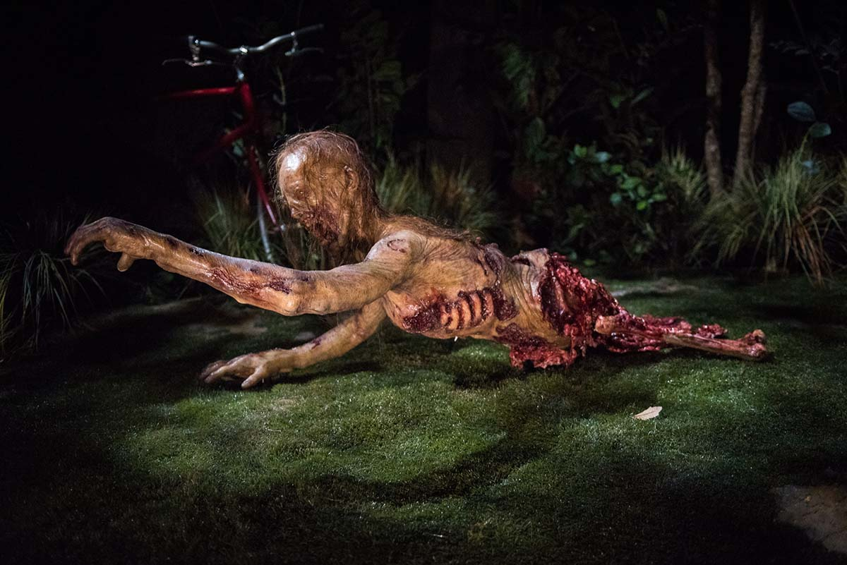 "Bicycle Girl Walker in ""The Walking Dead"" permanent attraction at Universal Studios Hollywood/Photo by Mike Baker"
