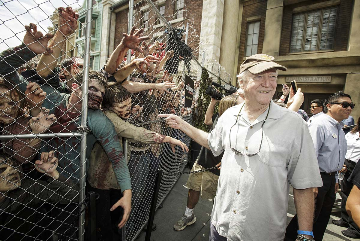 "Scott Wilson at the grand opening of ""The Walking Dead"" attraction at Universal Studios Hollywood/Photo by David Sprague"