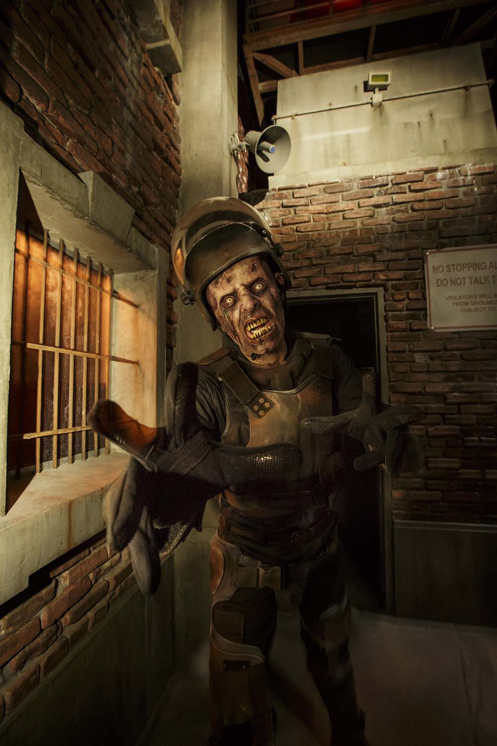 "Zombie at ""The Walking Dead"" permanent attraction at Universal Studios Hollywood/Photo by David Sprague"