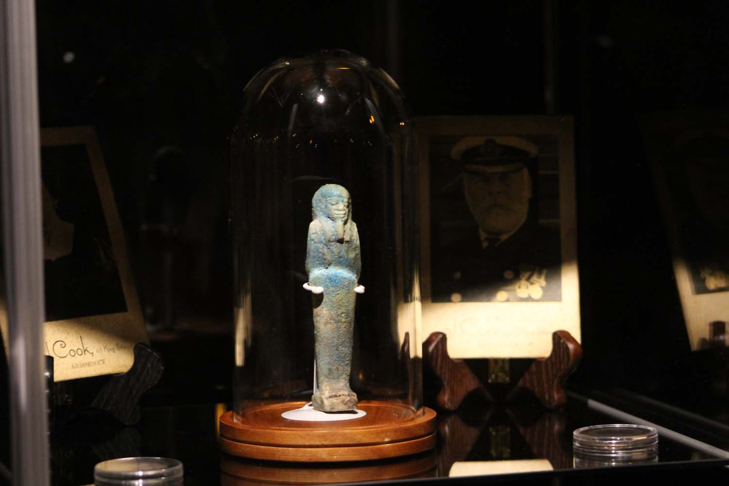 Artifacts in the Revenant Room at The Queen Mary