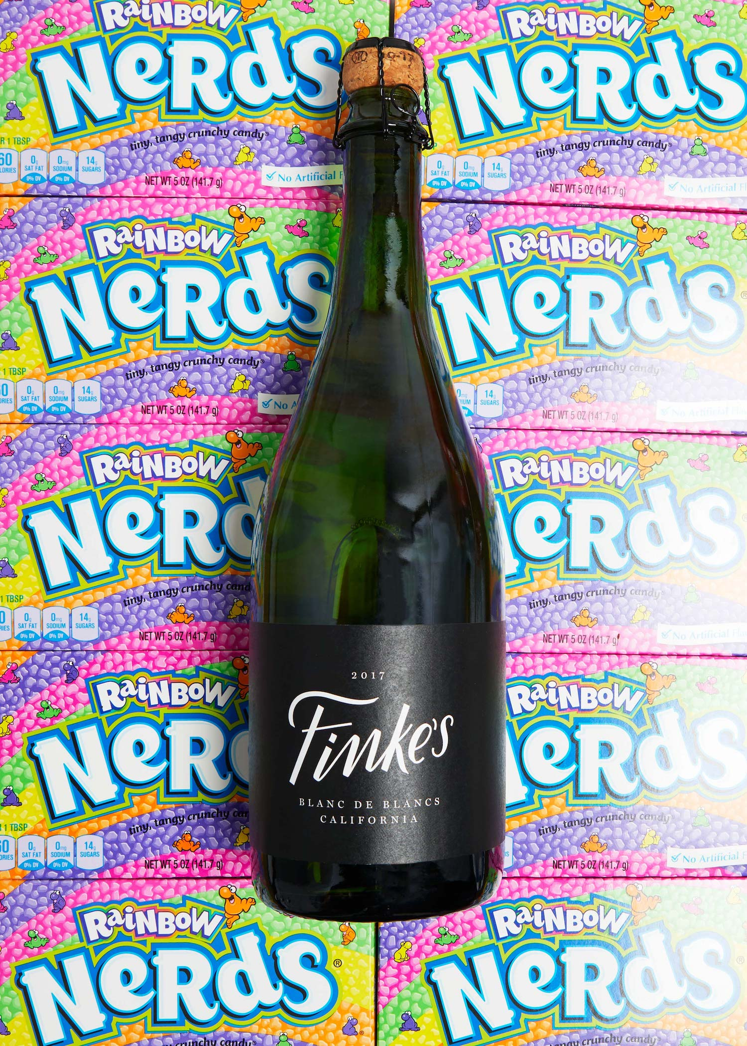 Nerds candy and wine