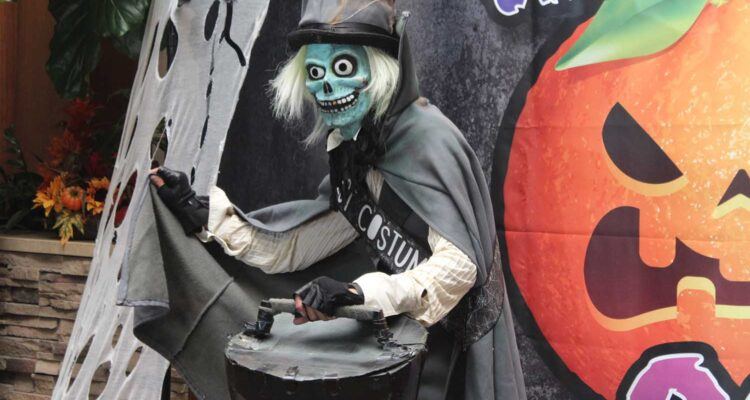 Hatbox Ghost cosplayer
